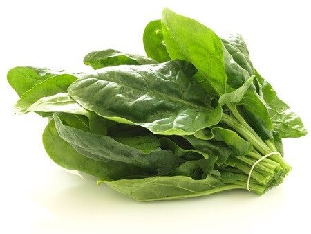 fiber in spinach